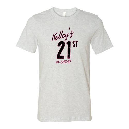 Adult Custom 21st Birthday Celebration T Shirt WI327