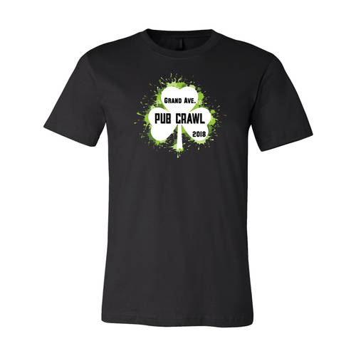 Adult Custom Grand Ave St Pat's Pub Crawl T-Shirt : WI328
