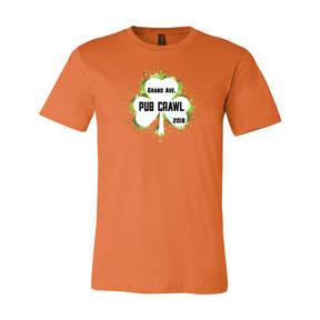 Adult Custom Grand Ave St Pat's Pub Crawl T-Shirt