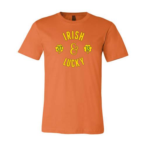 Adult Custom Irish & Lucky St Pat's Drinking T-Shirt : WI329