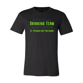Adult Custom Official Drinking Team St Patrick's T-Shirt