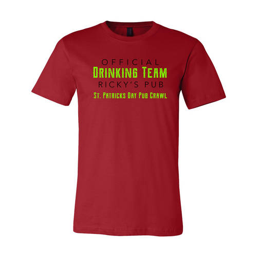 Adult Custom Official Drinking Team St Patrick's T-Shirt : WI330