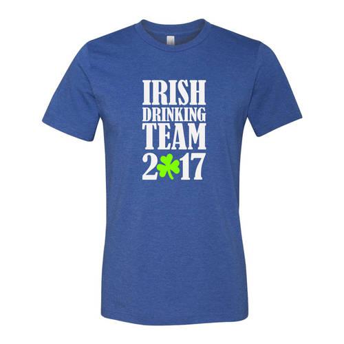 Adult Custom Irish Drinking Team St Patrick's T-Shirt : WI331