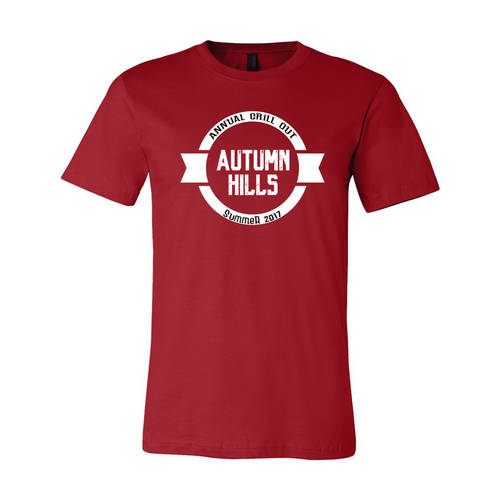 Youth Custom Neighborhood Party Annual Grill Out T-Shirt : WI336c