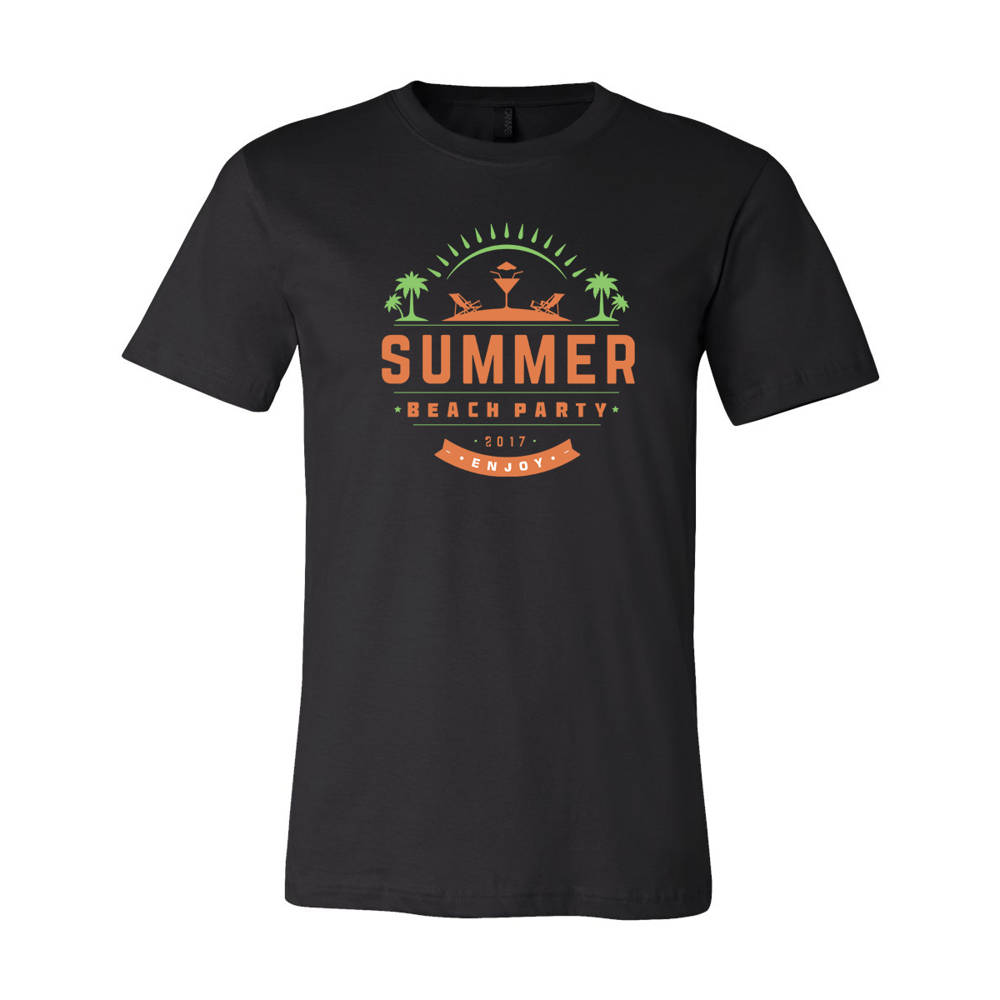 4512e641adc6 Adult Custom Summer Beach Party Family Vacation T-Shirt   WI338
