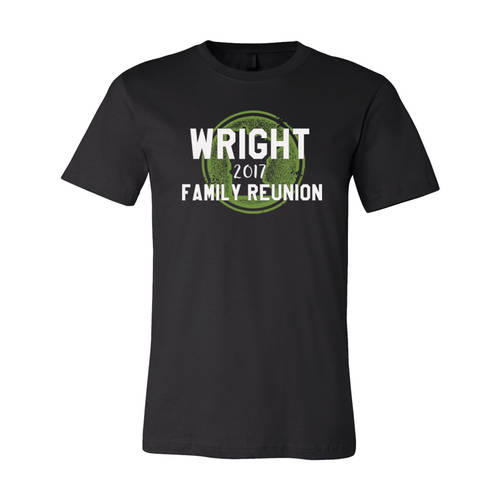 Adult Custom State Silhouette Family Reunion T-Shirt : WI343