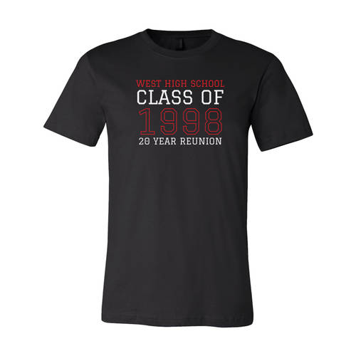 Adult Custom Varsity Throwback Class Reunion T-Shirt : WI344