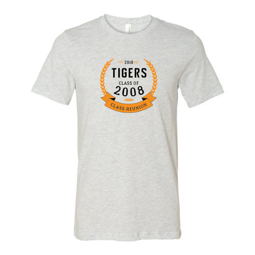 Adult Custom Crown Of Laurels Class Reunion T-Shirt : WI345