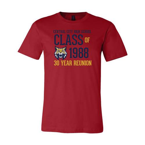 Adult Custom Retro Mascot Class Reunion T-Shirt : WI346