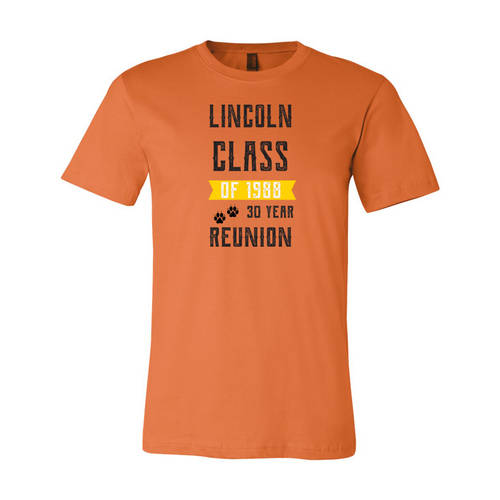 Adult Custom Yesterday's Gone Class Reunion T-Shirt : WI348