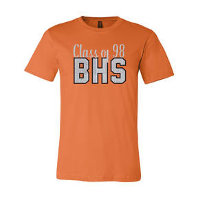 Adult Custom Rise to Greatness Class Reunion Glitter T-Shirt