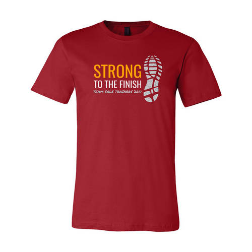 Youth Custom Official Support Crew Triathlon Glitter T-Shirt : WI354c