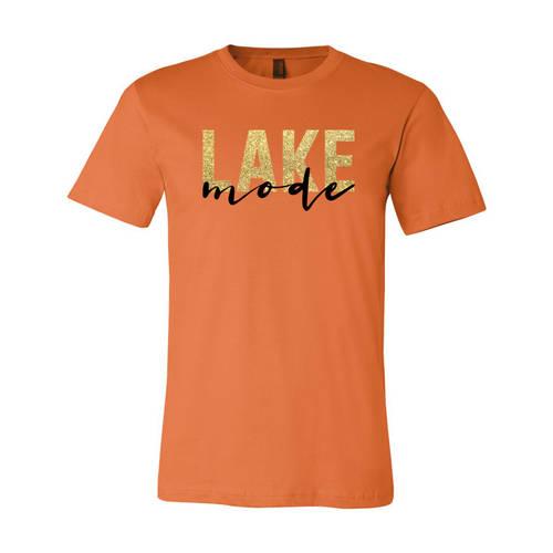 Adult Custom Easy Living Lake Mode Glitter T-Shirt : WI357
