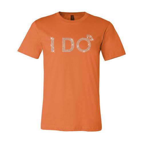Adult Custom I Do Bridal Announcement Sequin T-Shirt : WI363