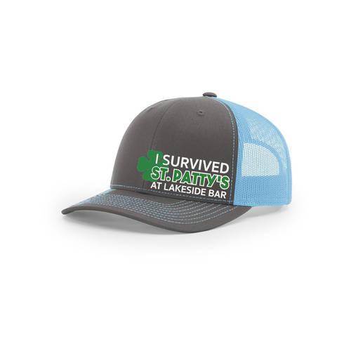 Custom Embroidered I Survived St Patrick's Day Trucker Cap : WI369