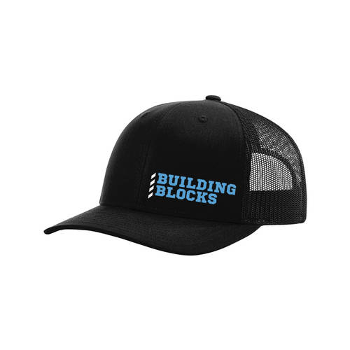 Minimalist Building Blocks Custom Embroidered Trucker Cap : WI370