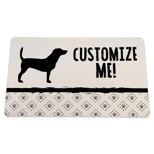 The Teehive Custom Modern Dog Mat : WI621