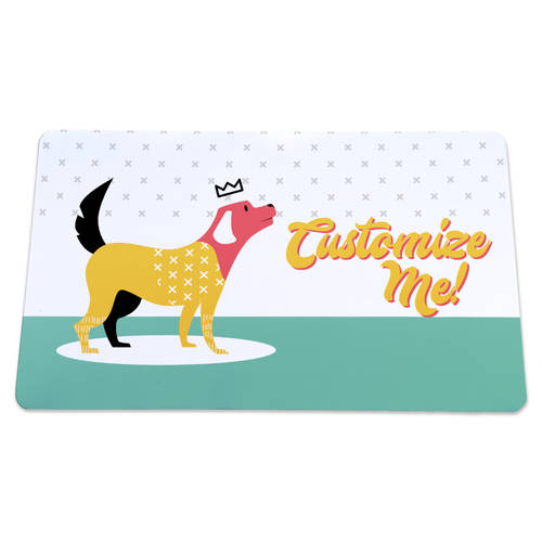 The Teehive Custom Retro Dog Mat : WI622
