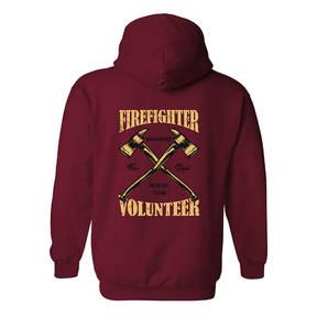 The Teehive Badge Of Honor Custom Firefighter Hoodie