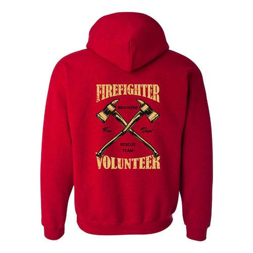 The Teehive Badge Of Honor Custom Firefighter Hoodie : WI702