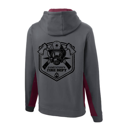 The Teehive Skulldrag Custom Firefighter Hoodie : WI707