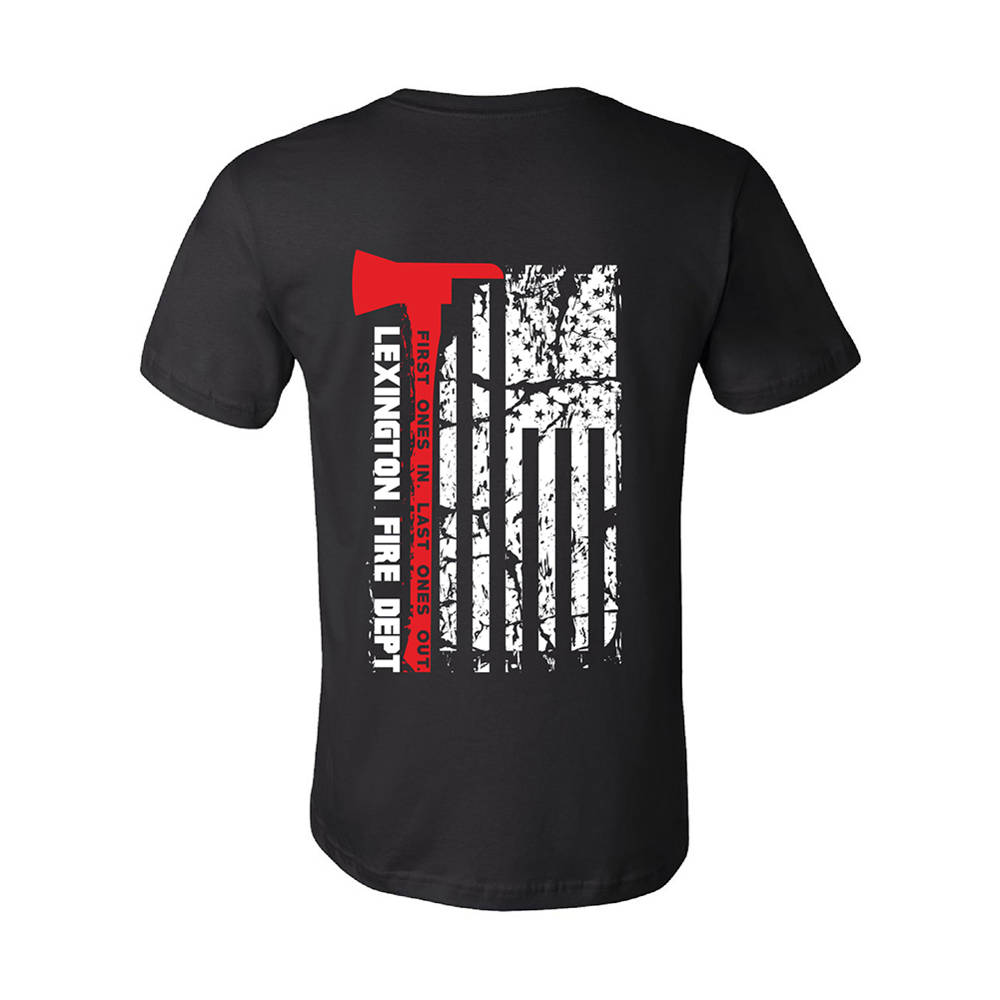 The Teehive Last Ones Out Custom Firefighter T Shirt Wi708