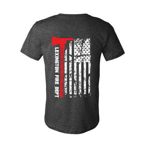 The Teehive Last Ones Out Custom Firefighter T-Shirt : WI708