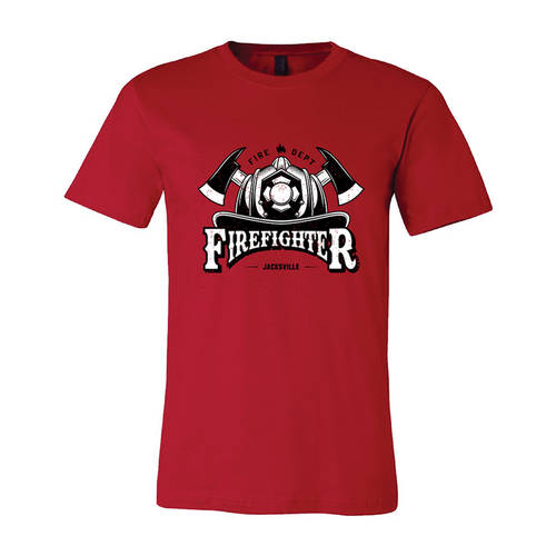 The Teehive True Grit Custom Firefighter T-Shirt : WI710