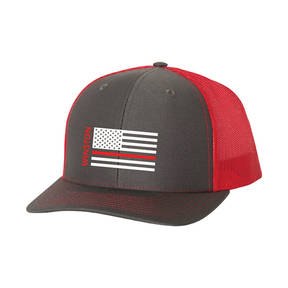 The Teehive Hold The Line Custom Firefighter Trucker Hat