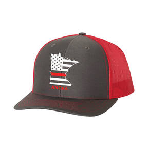 The Teehive State Outline Custom Firefighter Trucker Hat
