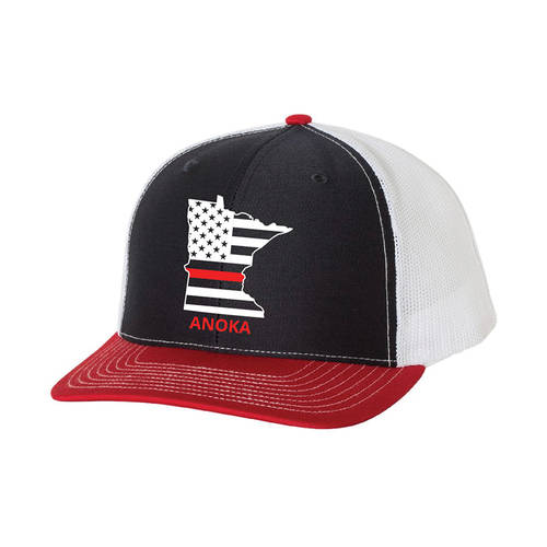 The Teehive State Outline Custom Firefighter Trucker Hat : WI718