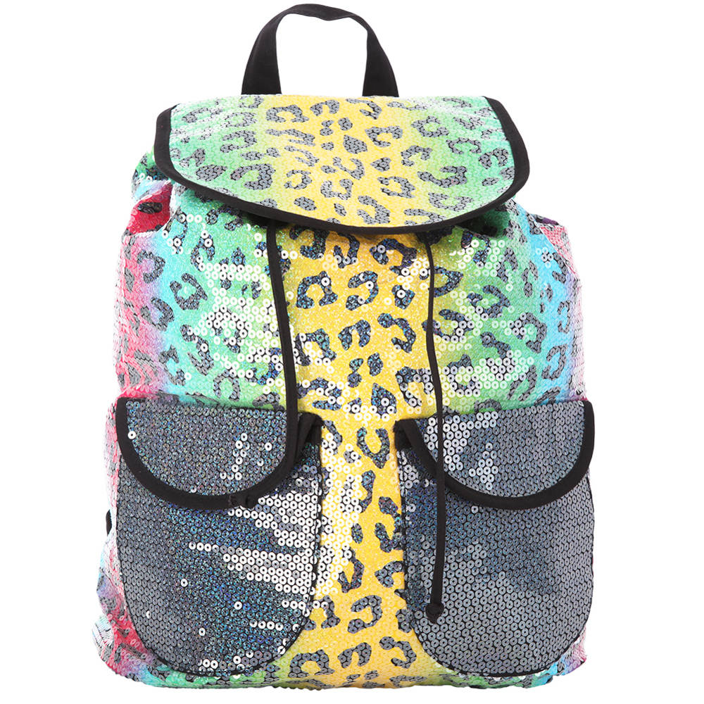 Leopard Sequin Backpack Gmb1